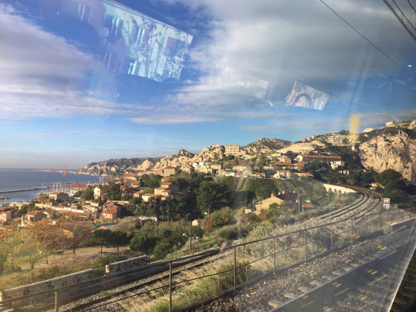Quand le train m'emporte vers Marseille